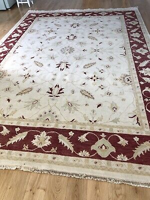 Indo Zeigler Indian Hand Knotted Wool Rug 12 X 9 From H G Frith Ltd Ebay