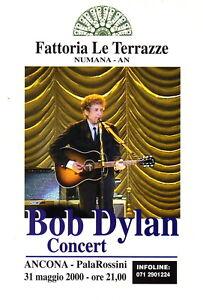 BOB-DYLAN-rare-ANCONA-23x18-cm-flyer-RARO-original-rock-folk-2000