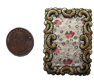 Art Gold Frame Embroidered Iron-On Patch