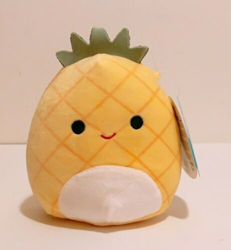 "Kellytoy Squishmallows 2020 Fruit Collection Maui Pineapple 5/"" Mini Plush Doll"
