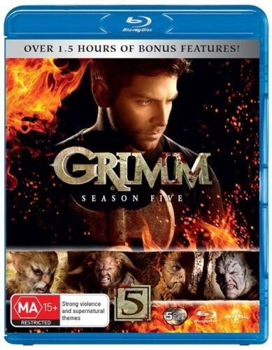 1 of 1 - Grimm Season 5 Five Blu-ray NEW David Giuntoli Region B