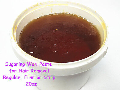 Sugaring Wax Paste for Hair Removal Regular, Firm or Strip Sugar 20oz