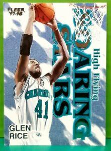 Glen Rice insert card High Flying Soaring Stars 1997-98 Fleer #15