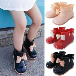 Infant-Baby-Toddler-Kid-Girls-Non-Slip-Wellington-Welly-Boots-Bowknot-Rain-Shoes