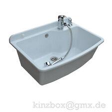 Komplett MAXIMUS WASCHBECKEN 61cm WEIS Ausgussbecken Waschtisch Handwaschbecken