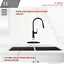 thumbnail 6 - Kitchen Faucet Plate in Stainless Steel Black Matte Finish