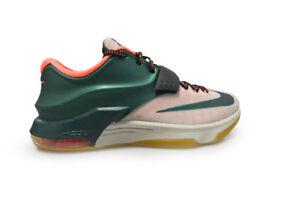 Uomo Kevin Durant KD VII 653996 330 VERDE BIANCO ARANCIONE toffee scarpe
