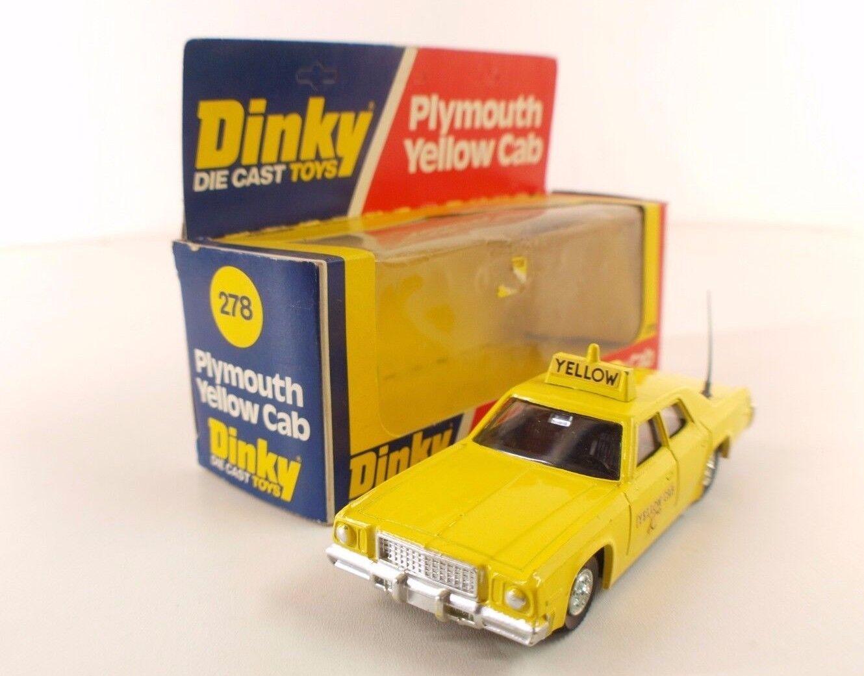 descuento online Dinky Juguetes GB N º 278 Plymouth Gran Gran Gran Fury Amarillo Cab Nuevo en Caja  autentico en linea