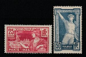 FRANCOBOLLI-1924-FRANCIA-C-25-50-OLIMPIADI-MLH-E-1504