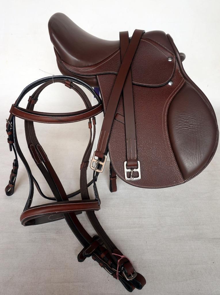 15  English Close Contact Mini Pony Saddle Bridle  Leathers-48  Rich Brn Value Pk  fashion brands