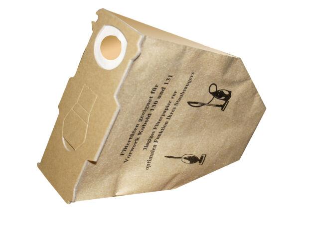 10-30 Bolsa con Filtro para Aspirador Adecuado Para Vorwerk Kobold 130 131 131SC