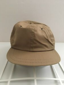 Vintage-Vtg-90s-5-Panel-Small-Medium-Snapback-Hat-Cap-Brown