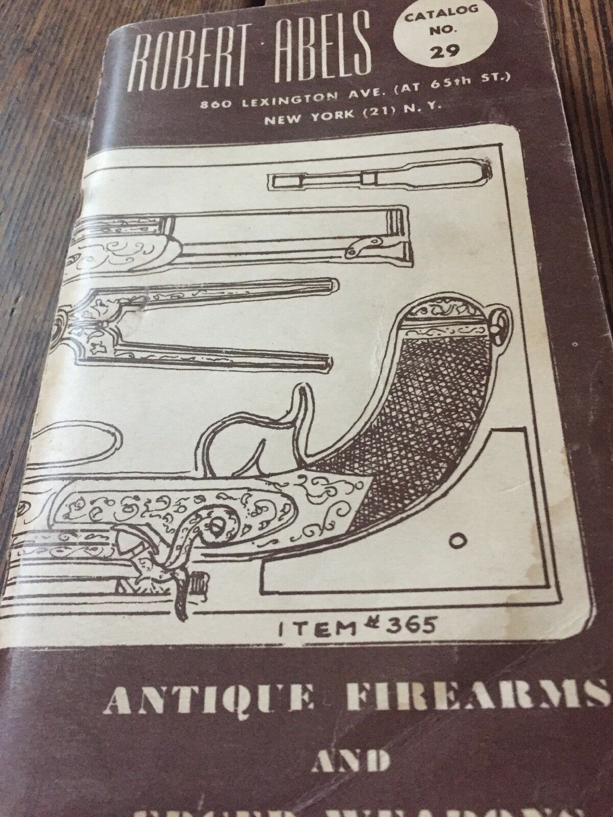 Antique Firearms And Edges Weapons. Robert Abels Catalog No. 29
