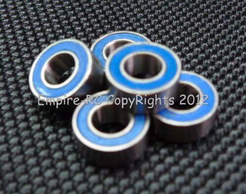 100 PCS 5x10x4 mm Rubber  Metal Ball Bearing Bearings Blue MR105RS MR105-2RS