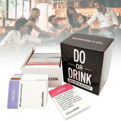Do or Drink Card Board Game Drinking Board Games for Festive Camping Parties