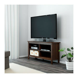 Ikea brusali mobile tv marrone libreria 120x62 cm ebay for Mueble libreria ikea