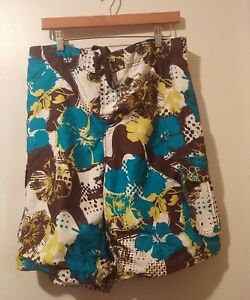 8a8477aed14f5 OP Mens Size L 36/38 Swim Trunks Board Shorts Multicolor Brown Blue ...