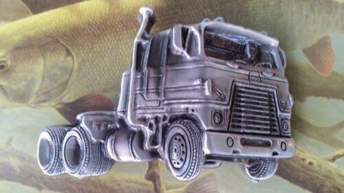 Truck Drivers SEMI TRUCKERS TRUCKS Pewter Finish Metal//Enamel BELT BUCKLE