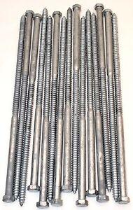 15-Galvanized-Hex-Head-1-2-x-16-Lag-Bolts-Wood-Screws