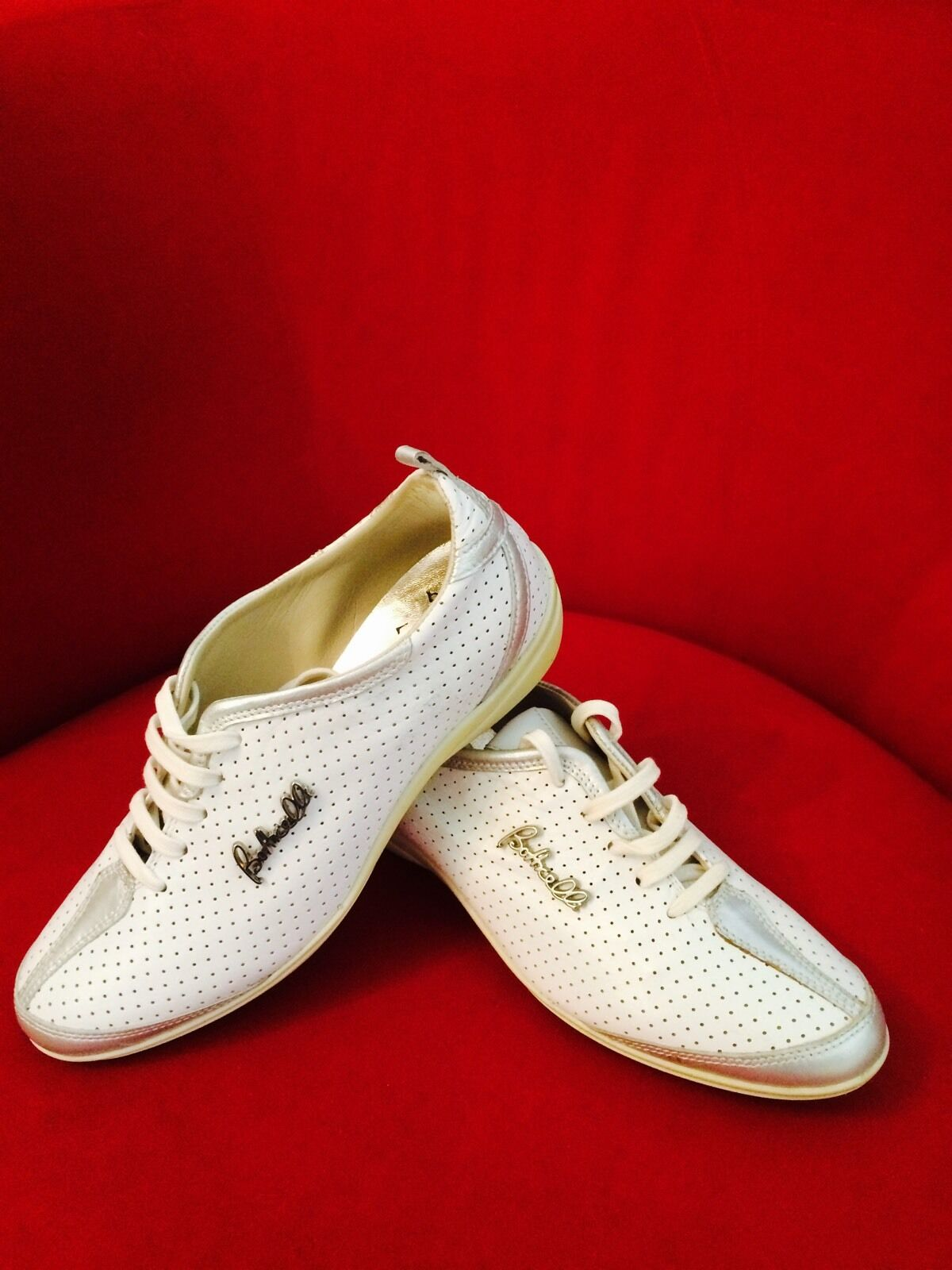 Roberto Botticelli Designers Sporty Running Womans Womans Womans Weiß Leather schuhe New 36 6 382e19
