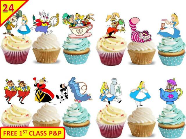 POPPY /& BRANCH 24 x TROLLS STAND UP Edible Decoration Cup Cake Toppers