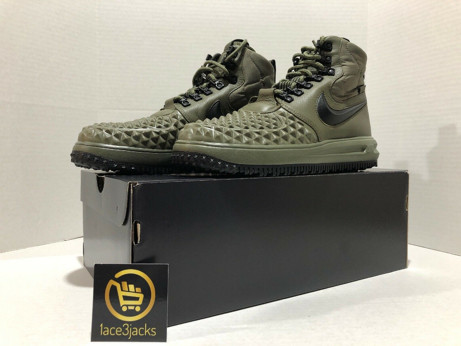 NIKE LUNAR FORCE 1 DUCK BOOT's BOOT's BOOT's Sneaker shoes Men's US SIZE 9.5 Green Black a53ebd