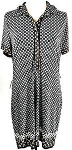 Max-Studio-Women-039-s-Dress-Black-Blue-Size-XL-UK-16-Shirt-Dress