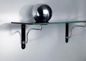 Image Is Loading Palladio Kitchen Bedroom Gl Wood Shelf Metal Support