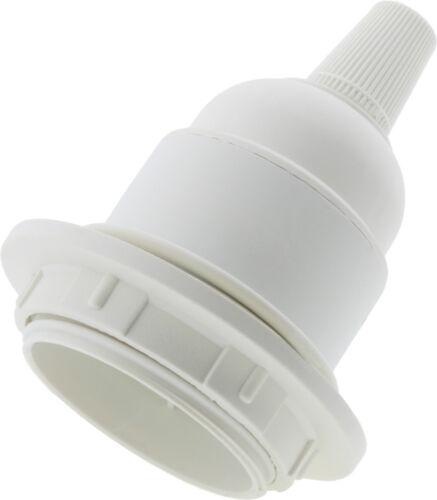 Edison vis porte-ampoule E27 blanc pour lampe ou pendentif avec abat-jour anneau /& grip