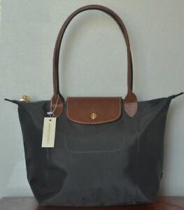 5b7627d8e31d Image is loading NEW-Longchamp-Le-Pliage-tote-bag-Graphite-Small-