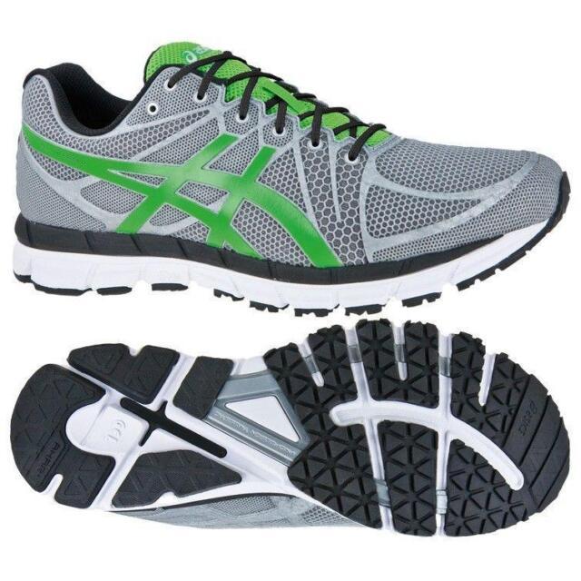 free shipping 09082 2bb8c Mens ASICS GEL-HYPER33 2 Silver Green Running Trainers T318N 917