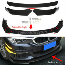 Universal Gloss Black Front Bumper Lip Body Kit Spoiler Protector For Honda Bmw Fits Cayenne