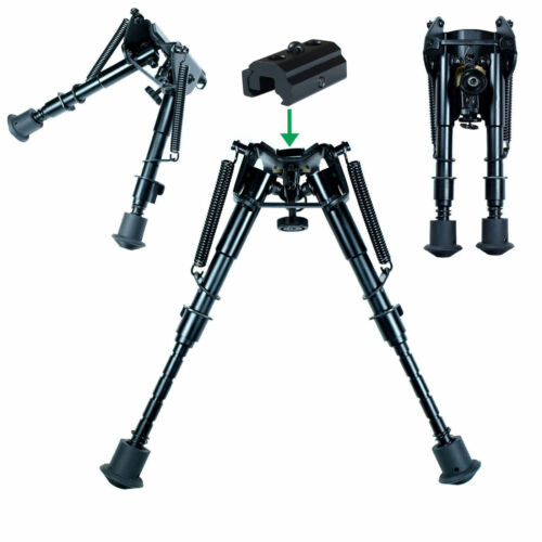 """Harris Style 6/""""-9/"""" Spring legs Rilfe Bipod Foregrip W//Sling Adapter Tactical"""