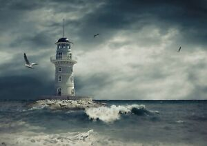 A1-Awesome-Lighthouse-Poster-Print-Size-60-x-90cm-Travel-Poster-Gift-16589
