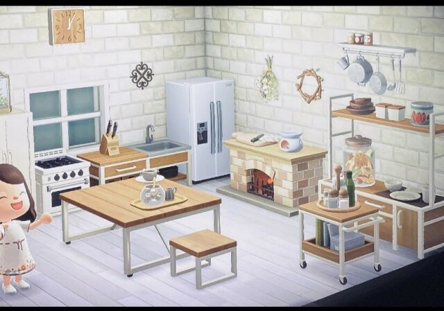 Animal Crossing ACNH Deluxe Rustic Chic Ironwood Kitchen ... on Ironwood Kitchen Animal Crossing  id=26014