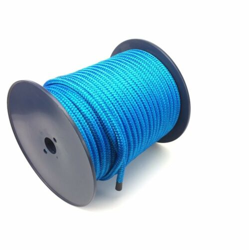 10mm Royal Blue Double Braid On Braid Polyester Rope x 100 Metres, Marine, Boats