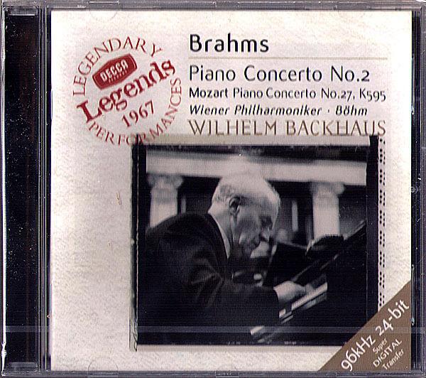 Wilhelm BACKHAUS: BRAHMS Piano Concerto No.2 MOZART 27 KARL BÖHM CD BOHM Neu
