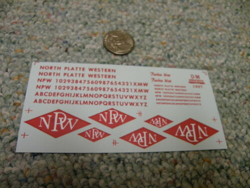 Herald King decals HO North Plate Western red  ZZ359