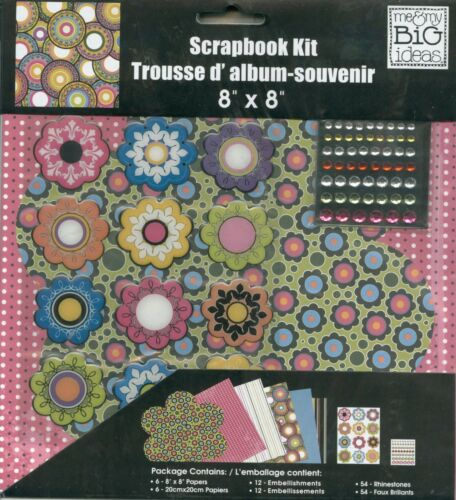 "SUPERCOOL FLOWERS Cool Wild Groovy Flower Jewels  8/"" MAMBI Scrapbook Page Kit"