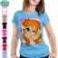 T-shirt BIA SFIDA DELLA MAGIA FAN ART maglia cartoni anni 80 anime donna