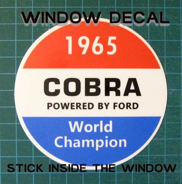 SHELBY AMERICAN INC 1965 COBRA WORLD CHAMPION WINDOW STICKER DECAL - SCCA-RACING