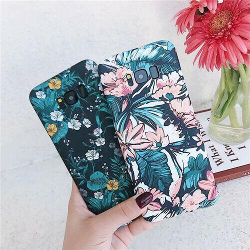 Retro Flor Floral duro PC Funda Cubierta Para Samsung Note 9 Note 8 S10 S9 S8 Plus