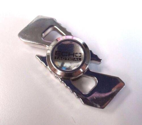 "/""Echo Tactical/"" Dual Metal Fidget Spinner Silver"