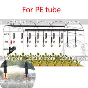 5pcs Sprinkler System Irrigation Sprayer Watering Garden Mist Hydroponics PE