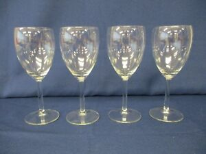 4-x-White-Wine-Stemmed-Drinking-Glasses-Contemporary-Modern-18-cm-Tall
