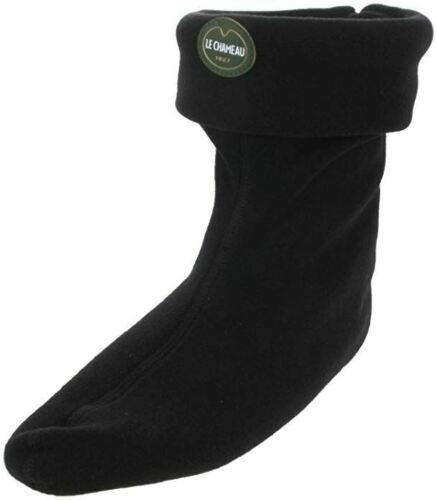*Le Chameau Polar Fleece Boot Socks-Low Boot - Black Noir - Size UK 7/8 EU 41/42