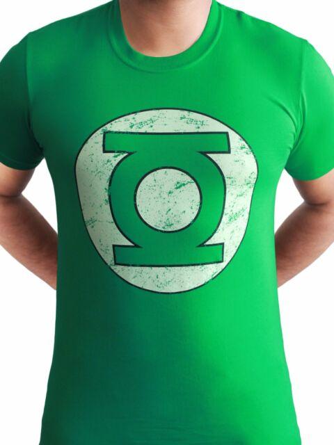 d6638e310 Green Lantern Logo Distressed Official DC Comics Justice League Mens T-shirt