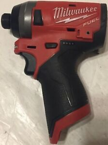 MILWAUKEE-2553-20-1-4-034-M12-FUEL-HEX-IMPACT-DRIVER-TOOL-ONLY-Nice-CONDITION