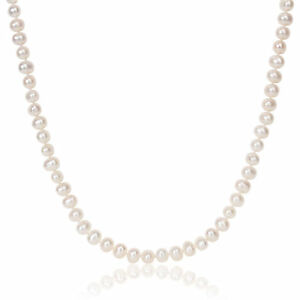 Amour White 6-7mm Cultured Freshwater Pearl Necklace (20 inch)