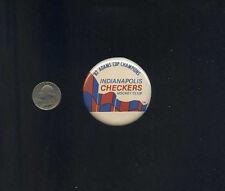 vintage 1982 Adams Cup Champions Indianapolis Checkers IHL  button pinback